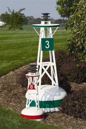 Picture of Ornamental Outdoor Nautical Decor Small Solar Buoy - 28""