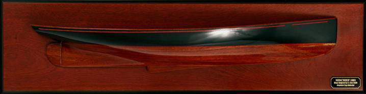 Picture of MM-02 Mischief 1881 Model Ship Half Hull
