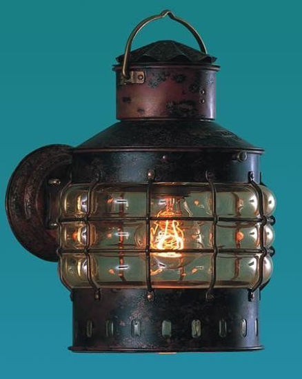 Picture of Antique Copper Finish Wall Anchor Lamp