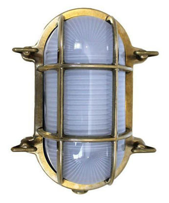 Picture of Weems and Plath Oval Brass Bulkhead Light