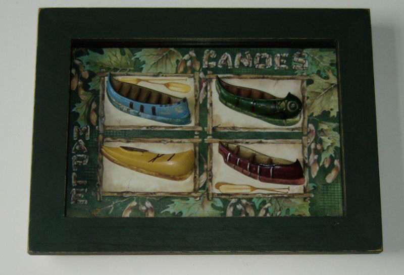 Picture of Canoes on Frame Nautical Décor - In Stock and Ready to Ship
