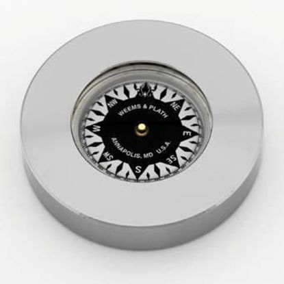 Picture of Weems and Plath Nickel Plated Compass Chart Weight